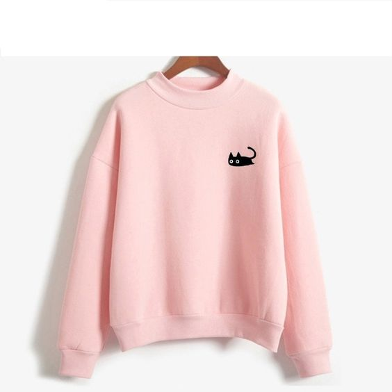 Black Cat Design Sweatshirt VL01