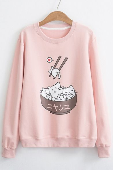 Cat In Bowl Sweatshirt VL01