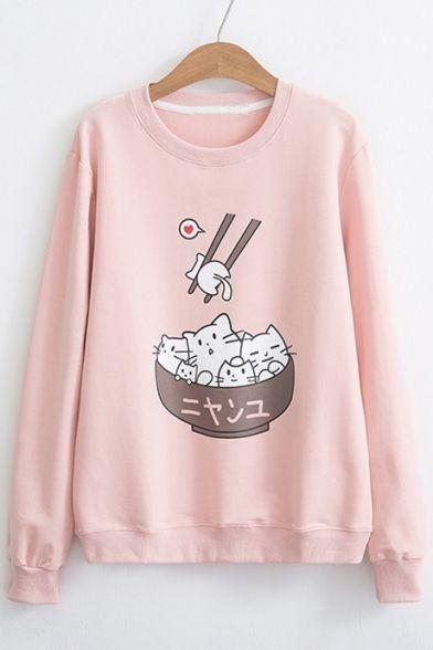 Cat In Bowl Sweatshirt VL01