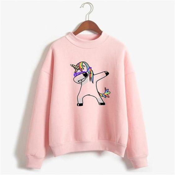 Dabbing Unicorn Sweatshirt VL01