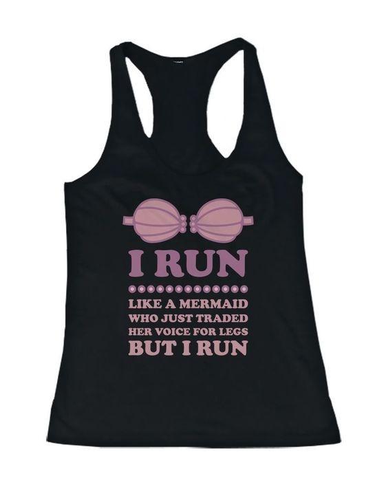 I Run Like a Mermaid Tanktop VL01