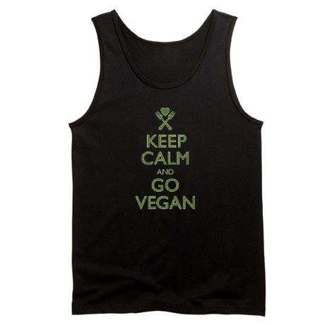 Keep Calm Go Vegan Tanktop VL01