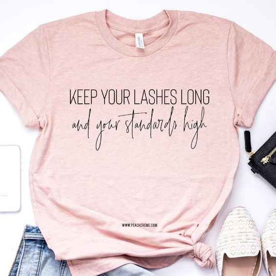 Keep Your Lashes Long Short-Sleeve Unisex T-Shirt EM01