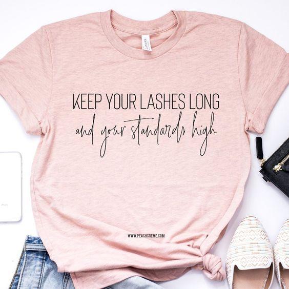 Keep Your Lashes Long Short-Sleeve Unisex T-Shirt EM01