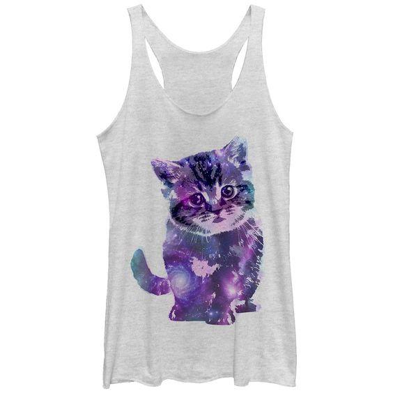 Kitten Heather White Tank Top VL01