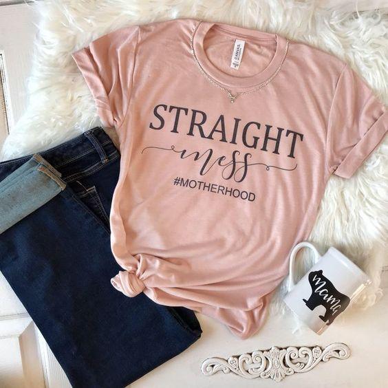 straight mess T-Shirt EM01