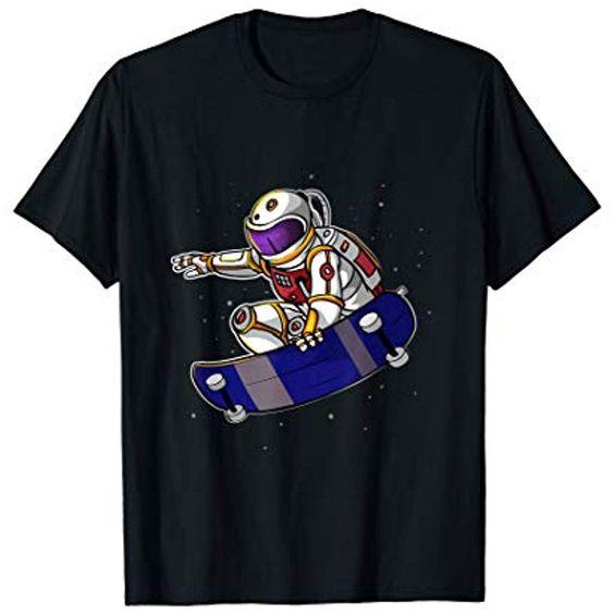 Astronaut Skateboard T-Shirt AV01
