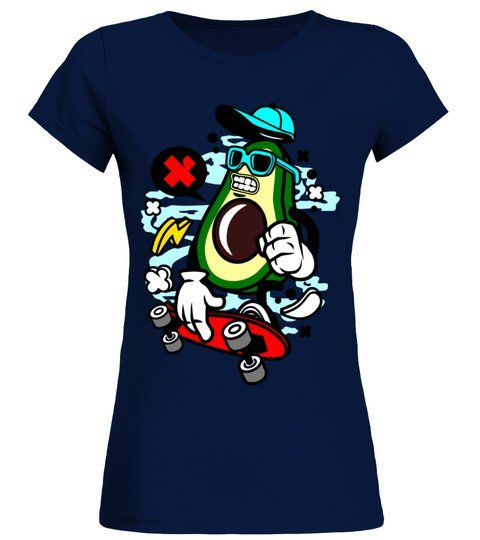 Avocado Skater Funny Skateboarding T-Shirt AV01
