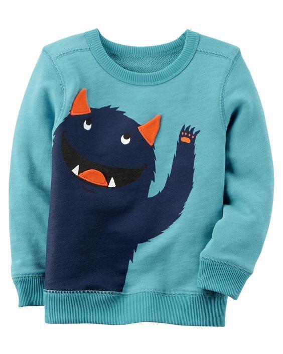 Baby Boy Monster Sweatshirt AZ26