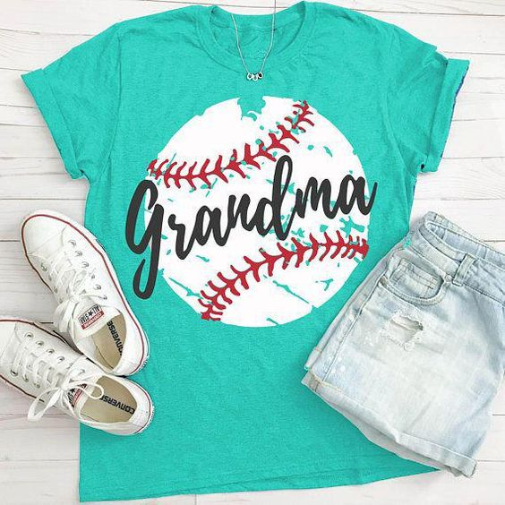 Baseball Grandma T-Shirt VL01