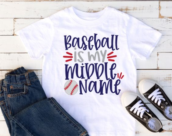 Baseball Is My Middle Name T-Shirt VL01