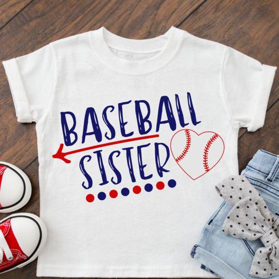 Baseball Sister T-shirt AI01