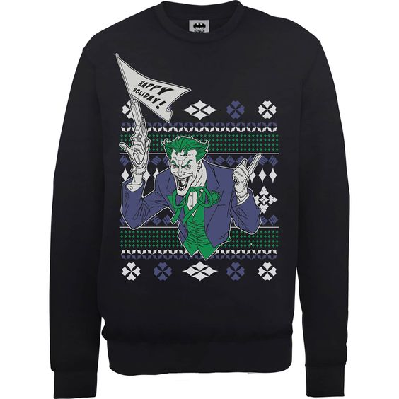 Batman Happy Holiday Sweatshirt FD01