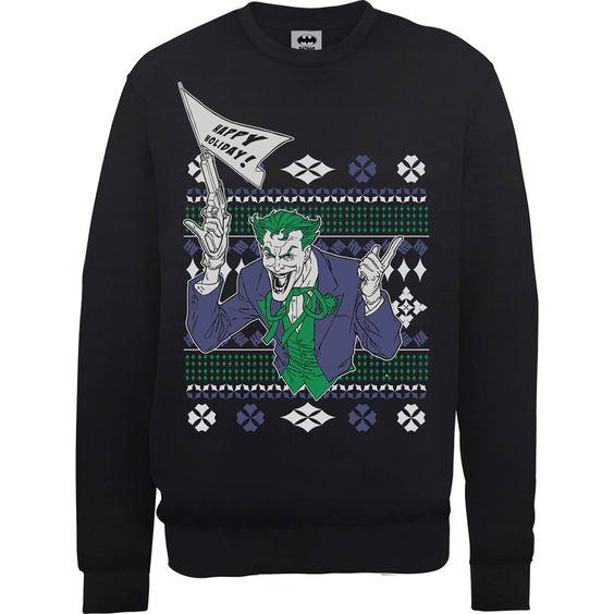 Batman Happy Holiday Sweatshirt FD01
