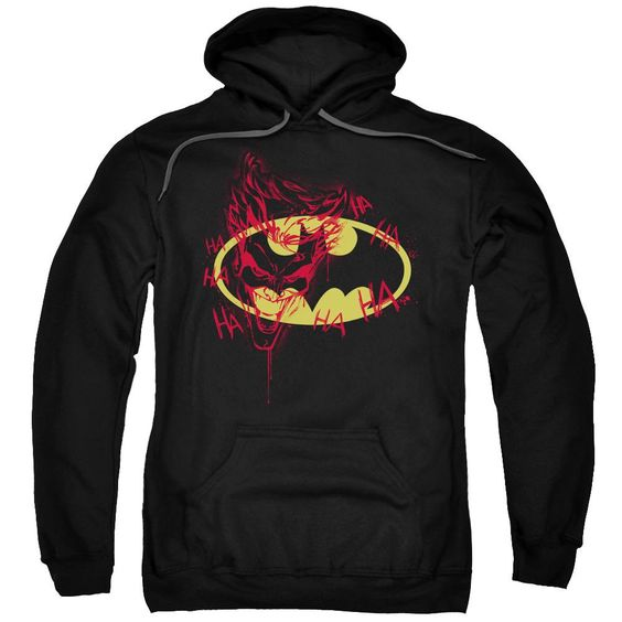 Batman Joker Graffiti Adult Pull Over Hoodie FD01
