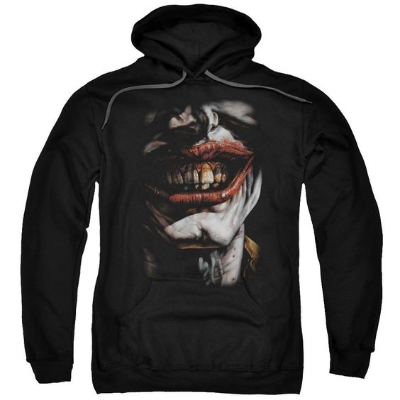 Batman Smile Of Evil Adult Pull Over Hoodie FD01