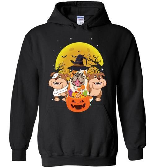 Bulldog Halloween Hoodie SR01
