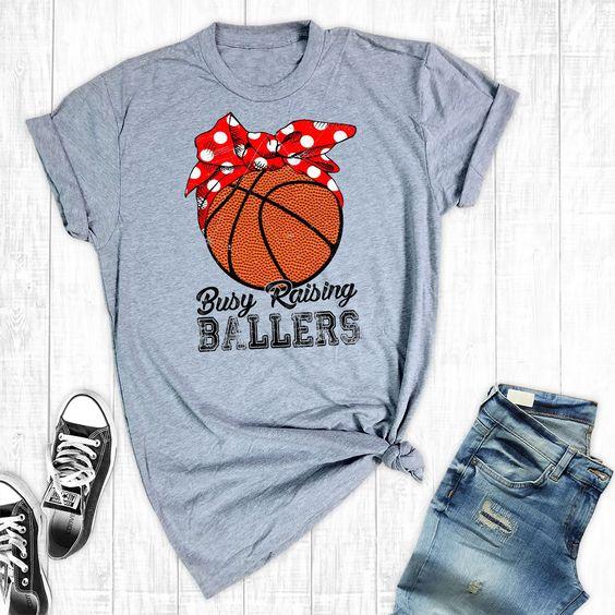 Busy Raising Ballers T-Shirt EM01