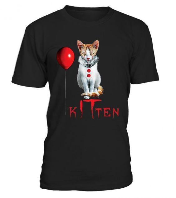 Cat Kitten Halloween T-Shirt SR01
