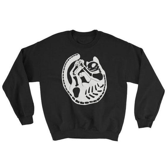 Cat Skeleton Sweatshirt EL01