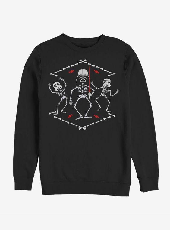 Dark Side Skeletons Sweatshirt EL01