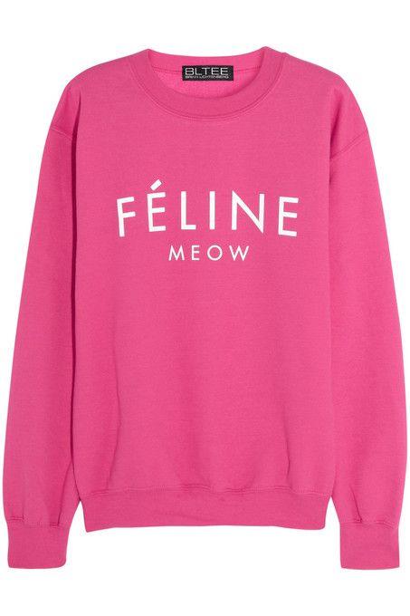 Feline Meow hot pink sweatshirt EL