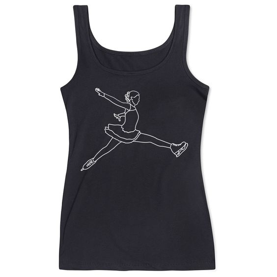 Figure Skating Black Tank Top DV01