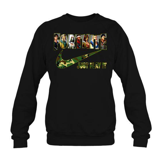 Fortnite Camo Just Play It Sweatshirt EL01