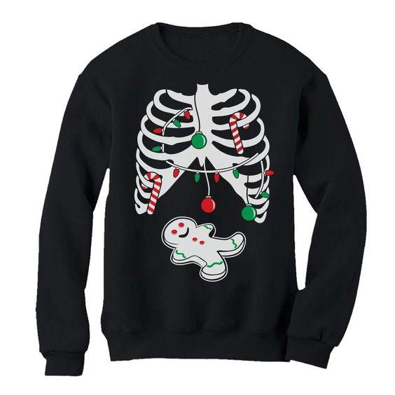 Gingerbread Skeleton Sweatshirt EL01