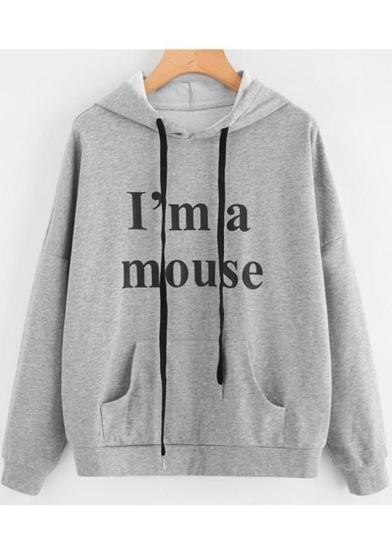 Grey Monogram Hoodie VL29