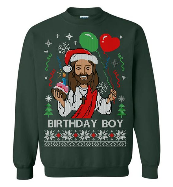 Happy Birthday Jesus Sweatshirt SR