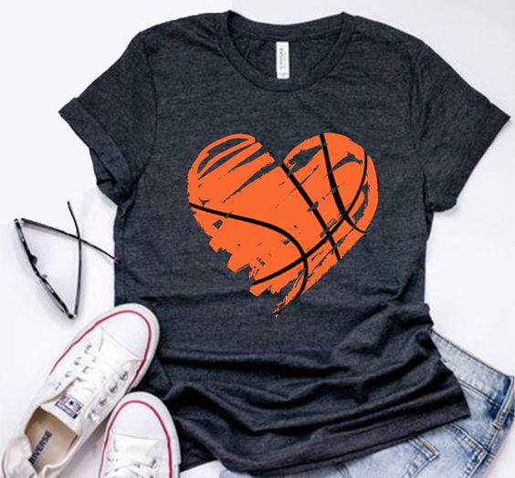 Heart Basketball T-Shirt EM01