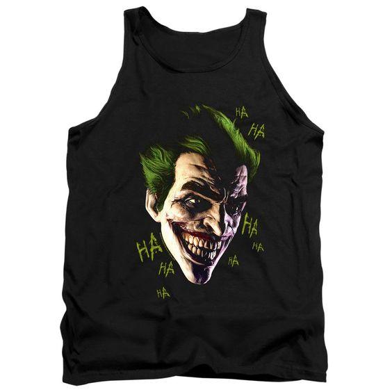 Joker Grin Ha Ha Black Tanktop FD01