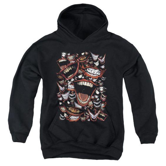 Joker Laugh Repeat Black Hoodie FD01