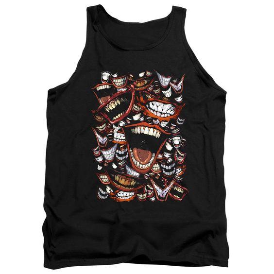 Joker Laugh Repeat Black Tank top FD01