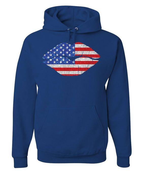 Patriotic Lips Hoodie ER01
