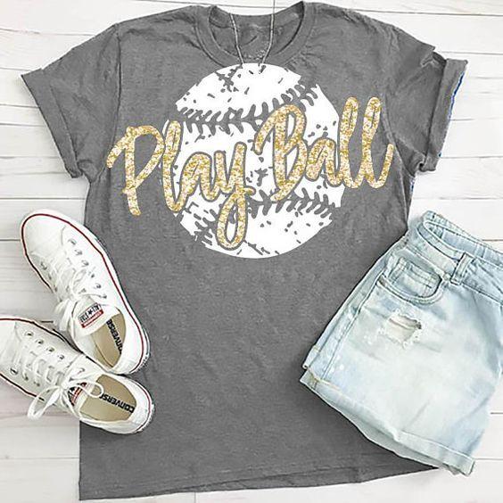 Play Ball Baseball T-Shirt VL01