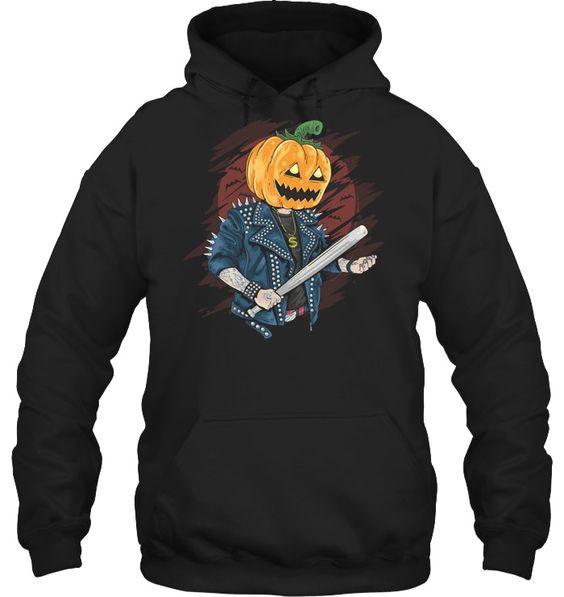 Pumpkin Head Rocker Halloween Hoodie SR01