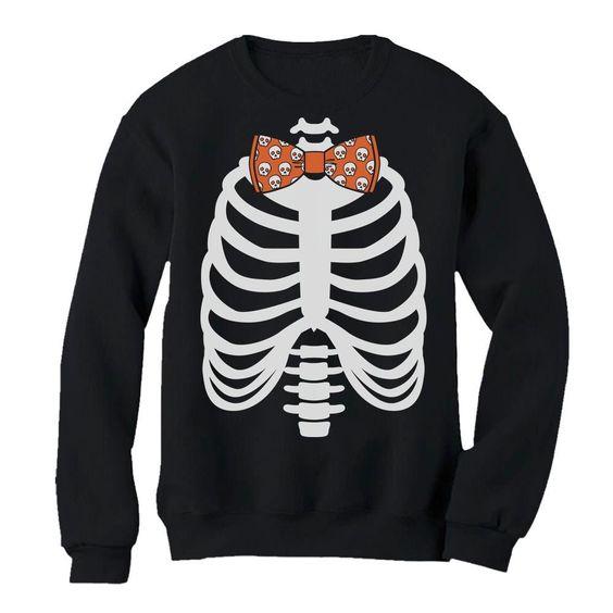 Skeleton Bow Tie Sweatshirt EL01