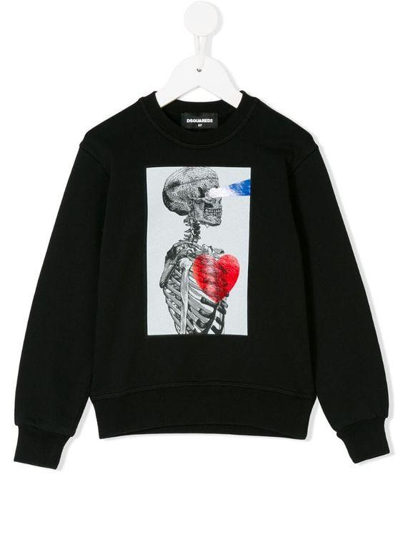 Skeleton print sweatshirt EL01