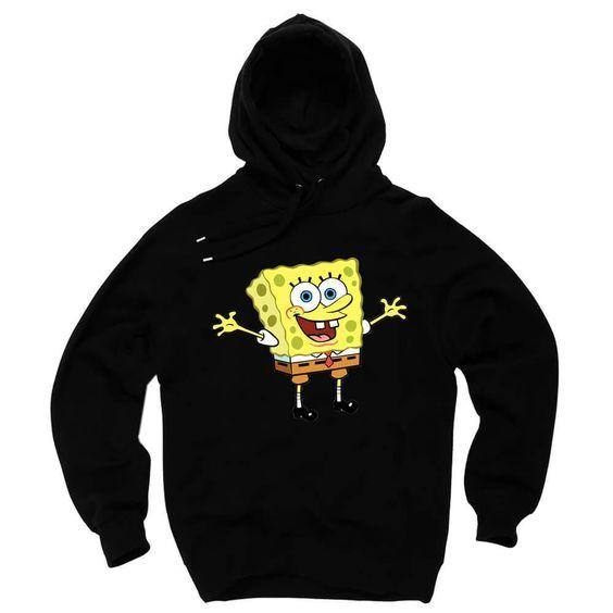 Sponge Bob Squarepants Black Hoodie DV01