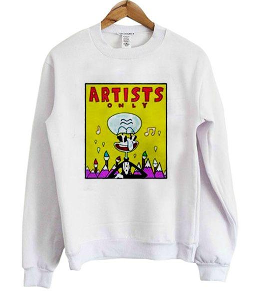 SpongeBob Artists Squidward Sweatshirt DV01