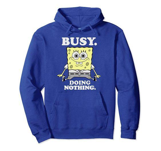 SpongeBob doing nothing Hoodie DV01