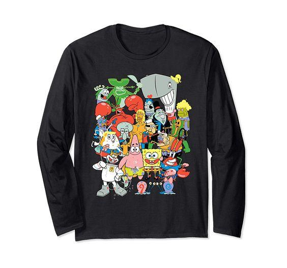 Spongebob Character Pile Up Sweatshirt DV01