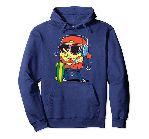 Spongebob Skater Tee With Hoodie DV01