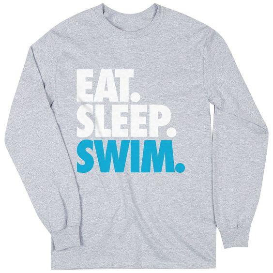 Swimming Youth Long Sweatshirt DV01