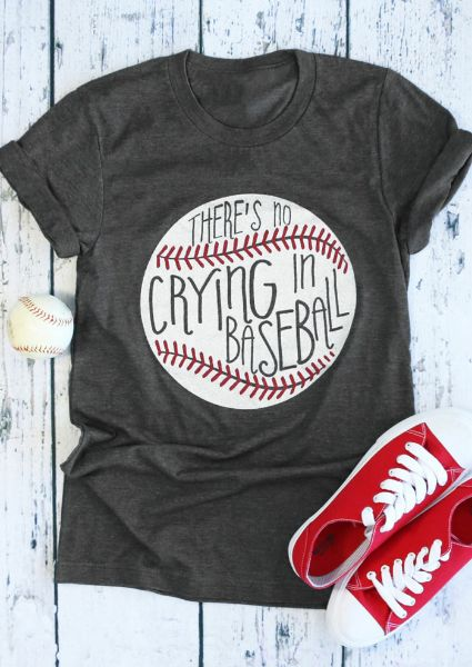 There's No Crying In Baseball T-Shirt VL01
