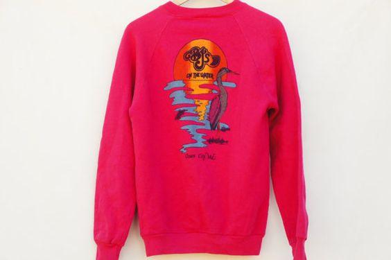 Vintage 90s Hot Pink Sweatshirt EL