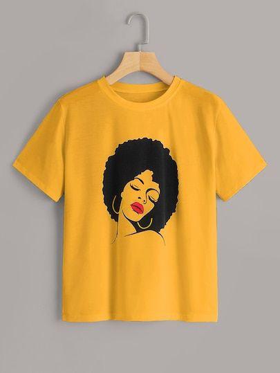 Yellow Run neck Fiure T-Shirt DV01