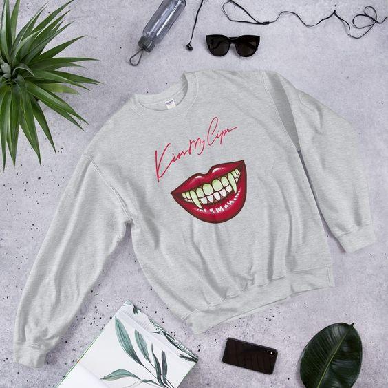 crew neck kiss lips sweatshirts ER01
